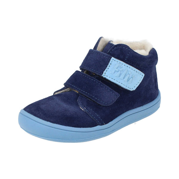 Bottines fourrées laine Filii Chameliion velours ocean velcro 202112-W2