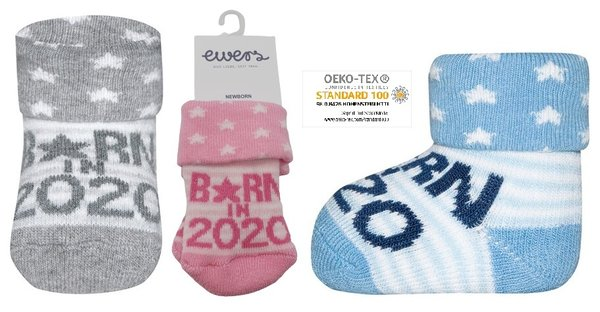 "Chaussettes chaudes Ewers ""Born in 2020"" -"